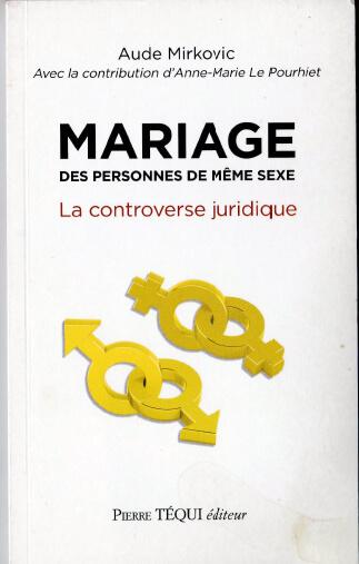 mariage des personnes du meme sexe